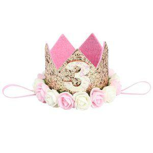 Baby Girl Third Birthday Headband